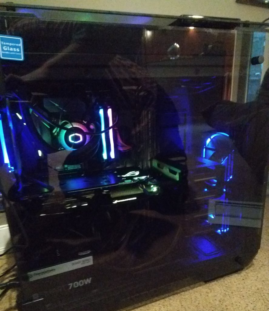 Custom RGB VR Build at customer's house